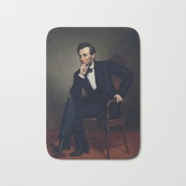 President Abraham Lincoln Painting Bath Mat