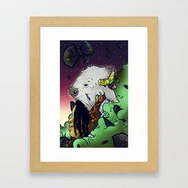 White Buffalo Queen Framed Art Print