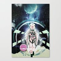 2001 a space odyssey Canvas Prints featuring 2001: A Space Odyssey by Andreea Benu