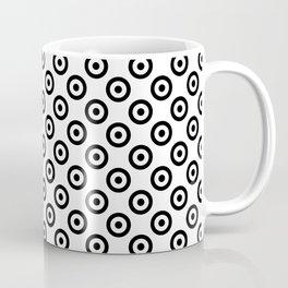 Black & White Mod Target Coffee Mug