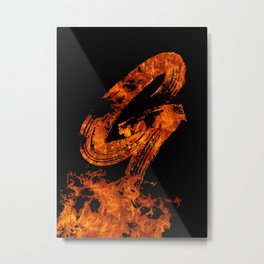 Burning on Fire Letter G Metal Print