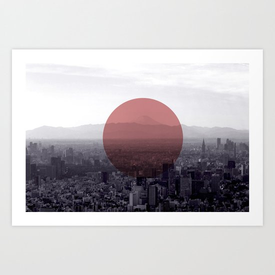 Fuji in the Distance - Remastered Art Print