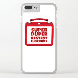 Super Duper Bestest Lunchbox Clear iPhone Case