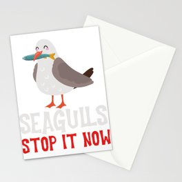 Flying Bird Grey And White Gulls Mews Fly Wings Seagulls Stop It Now Eating Fish Birdline Seagull Stationery Cards