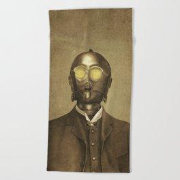 Baron Von Three PO  Beach Towel