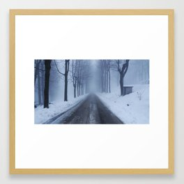 A snowy day out Framed Art Print