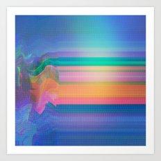 Glitch 02 Art Print