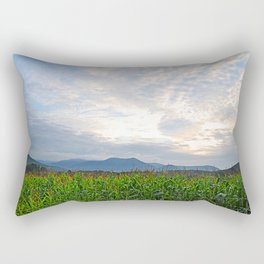 Cornfield in the morning light Rectangular Pillow