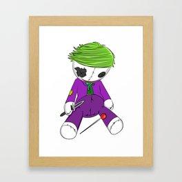 Voodoo Joker Framed Art Print