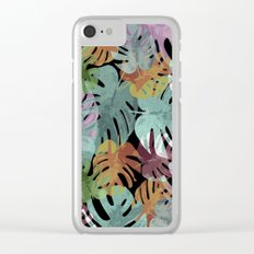 Monstera Night Glory Clear iPhone Case
