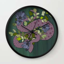 Snake (aka lady danger noodle with freckles) Wall Clock