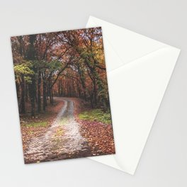 Entrance to the autumn forest Stationery Cards
