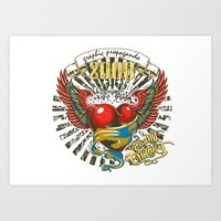 propaganda Art Prints featuring Graphic propaganda by Tshirt-Factory
