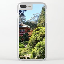 Japanese Tea Garden Clear iPhone Case