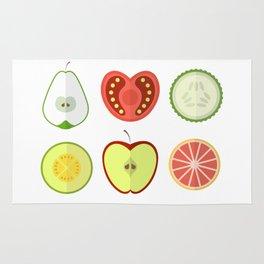 Fresh Fruits and Vegetables Rug
