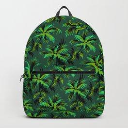 Snake Palms - Green Backpack