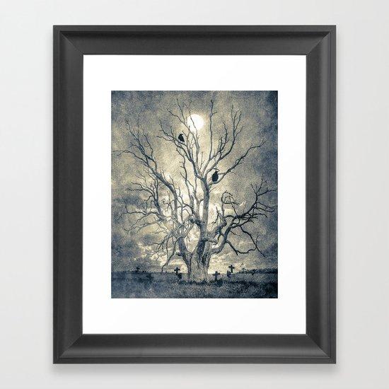 Raven's shelter II  (colour option) Framed Art Print