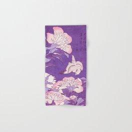 Japanese FLowers Purple Pink Hand & Bath Towel