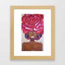 Beautiful as a Rose Framed Art Print