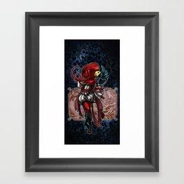 Mardi Red Framed Art Print