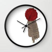 warhammer Wall Clocks featuring Warhammer Purity Seal by Derek Boman