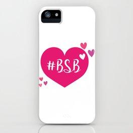 BSB - I LOVE BSB - BACKSTREET iPhone Case