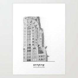 Crysler Building Art Print