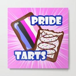 Genderfluid Pride Tarts Metal Print