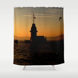 sunset in İstanbul Shower Curtain
