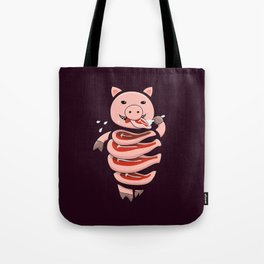 Gluttonous Cannibal Pig Tote Bag