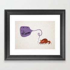 I am a cat Framed Art Print