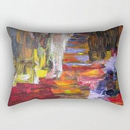 Mountain river bright image Rectangular Pillow