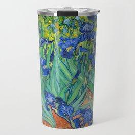 Vincent Van Gogh Irises Painting Travel Mug