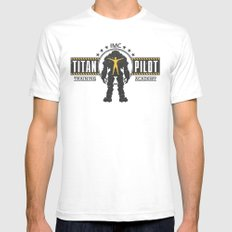 Titan Pilot Training Academy SMALL White Mens Fitted Tee