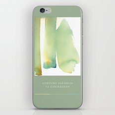 fortune favorise  le courageux iPhone Skin
