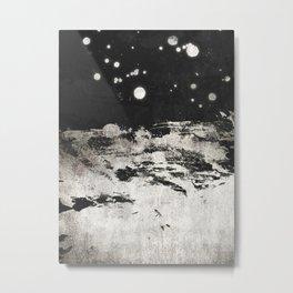 Dark Titanium Metal Print