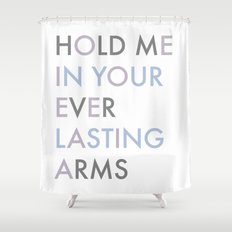 Vampire Weekend - HOLD ME IN YOUR EVERLASTING ARMS Shower Curtain