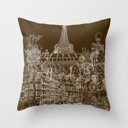 Paris! Throw Pillow