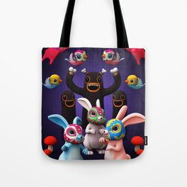 Lucha Rabbit Tote Bag