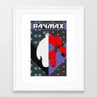baymax Framed Art Prints featuring BayMax by Brieana