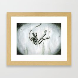 Stella was a Diver... Framed Art Print