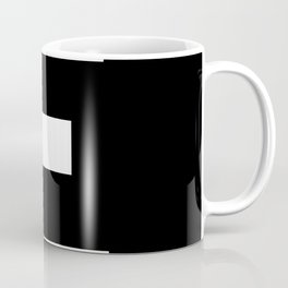 Letter E (White & Black) Coffee Mug