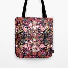 Pink Spot Floral Tote Bag