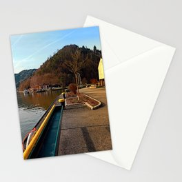 River Danube valley, at the harbour | waterscape photography Stationery Cards