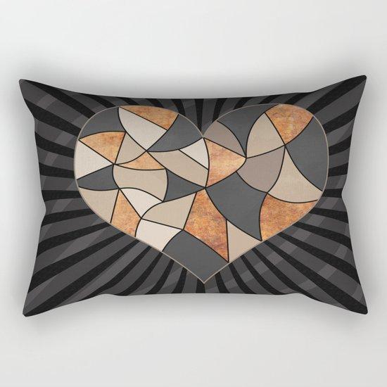 Heart . Patchwork . Rectangular Pillow