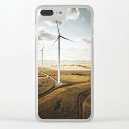 windturbine in nebraska Clear iPhone Case