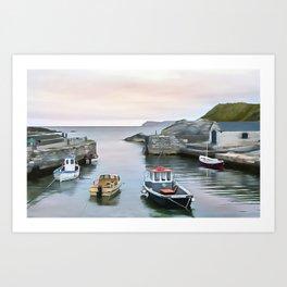 Ballintoy Harbour, Ireland. (Painting) Art Print