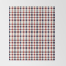Plaid Red White And Blue Lumberjack Flannel Design Throw Blanket
