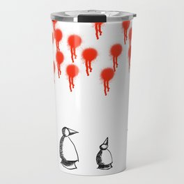 Metaphysical Penguin The Arrival of the Beginning Travel Mug
