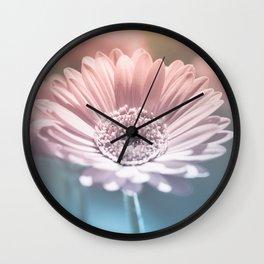 Pastel Gerbera Wall Clock
